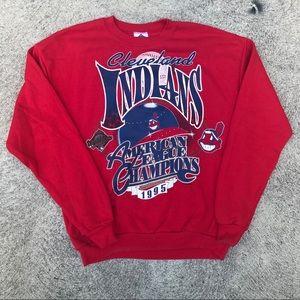 Vintage Cleveland Indians crew neck size Large